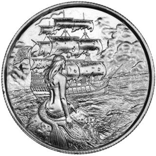 2 oz Elemetal Siren Ultra High Relief Silver Round (Privateer Series #2, New)