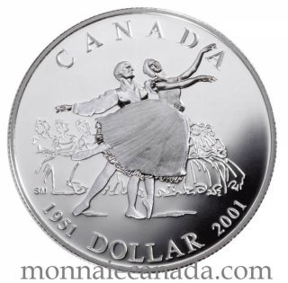 2001 - Proof Sterling Silver Dollar - National Ballet of Canada