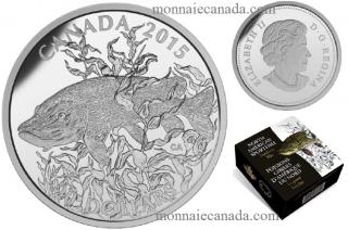 2015 - $20 -  Fine Silver Coin American Spotfish: Northern Pike